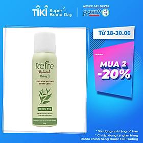 Xịt Phun Sương Khử Mùi Chiết Xuất Thiên Nhiên Refre Natural Spray Green Tea Hương Trà Xanh (50g)