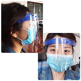 10Pcs Safety Face Shield Replaceable Full Face Mask Transparent Protective Mask Visor Protection against Splash Fluid