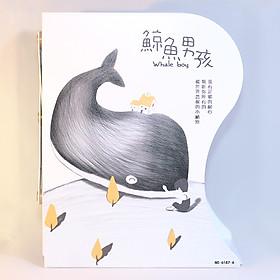 Kệ Chặn Sách Xếp - Whale Boy