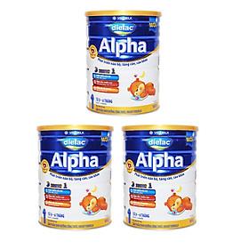 COMBO 3 HỘP SỮA BỘT DIELAC ALPHA 1 900G (CHO TRẺ TỪ 0 - 6 THÁNG TUỔI)-0