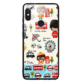 Ốp Lưng Kính Cường Lực cho điện thoại Xiaomi Redmi Note 5 - 0201 LONDON03 - Hàng Chính Hãng