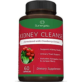 Premium Kidney Cleanse Supplement – Powerful Kidney Support Formula with Cranberry Extract Helps Support Healthy Kidneys & Urinary Tract Support– 60 Vegetarian Capsules