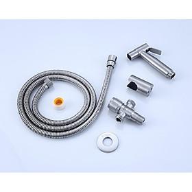 Bộ vòi xịt vệ sinh Inox SUS 304 cao cấp MS115 + van chữ T Sus304