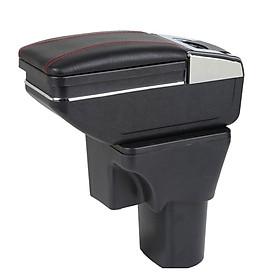 Hộp tỳ tay ô tô, xe hơi dùng cho xe Hyundai Accent 2011-2015 và Hyundai Verna cao cấp JD-ZXV, giảm thiểu tình trạng đau mỏi vai, tay do để tay quá lâu trên bánh lái,được trang bị  tính năng đựng đồ, sạc pin điện thoại hữu ích