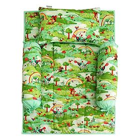 Bộ 4 Món Ga Gối Cho Bé Sleep Baby Green Forest - F110