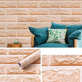 Cuộn 10m Decal giấy dán tường chống thấm nước có sẵn keo khổ 0.45m