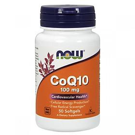 Thực Phẩm Chức Năng CoQ10 100mg NOW Foods USA – Chống oxi hóa, tai biến tim mạch, giảm cholesterol, điều hòa huyết áp