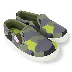 Giày slipon bé trai NomNom EPB1950 màu rằn ri