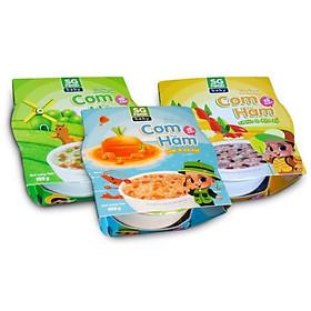 Combo Cơm hầm Sài Gòn Food (Bò - Cá Lóc - Tôm) 150g x 3 chén