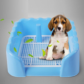 Khay vệ sinh dạng bức tường cho chó đực và cái, bằng nhựa cao cấp, có lưới MÀU NGẤU NHIÊN+ Tặng 3 tấm tã lót chuồng, sàn xe
