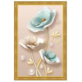Tranh treo tường trên nền canvas hoa đẹp trang trí phòng khách và phòng ngủ nhiều kích cỡ Tipo_0129b