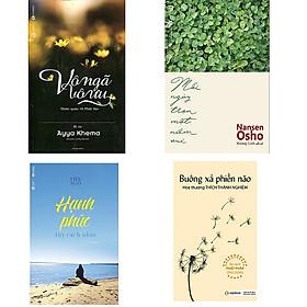 Bộ 4 cuốn sách giúp bạn vui sống mỗi ngày: Vô Ngã Vô Ưu - Buông Xả Phiền Não - Hạnh Phúc Tùy Cách Nhìn - Mỗi Ngày Trọn Một Niềm Vui