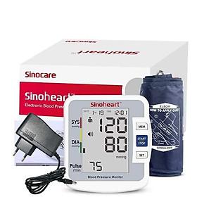 Máy đo huyết áp điện tử bắp tay Sinoheart BA-801 Đức + Tặng bộ đổi nguồn ( Adapter )