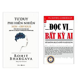 Combo 2 cuốn sách kĩ năng sống: Tư Duy Phi Hiển Nhiên + Đọc Vị Bất Kỳ Ai  ( Tặng kèm Bookmark Happy Life)
