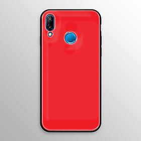 Ốp lưng kính cường lực cho Huawei Nova 3e, P20 Lite in hình màu sắc