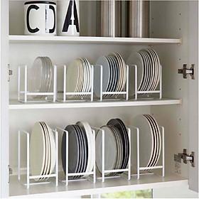 Kệ úp đĩa KENA mini MN11 - kệ để đồ nhà bếp đa năng, để thớt, để vung nồi, chảo tiện lợi, kệ mini nhỏ gọn , chất liệu sắt sơn tinh điện chống giật , hạn chế tối đa oxi hóa , rỉ sét , an toàn cho người sử dụng (Giao màu ngẫu nhiên)