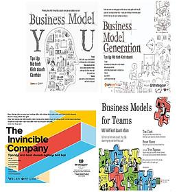 Combo Tạo Lập Mô Hình doanh nghiệp Bất Bại: Mô Hình Kinh Doanh Nhóm + Tạo Lập Mô Hình Kinh Doanh - Business Model Generation + Tạo Lập Mô Hình Kinh Doanh Cá Nhân + Tạo Lập Mô Hình Doanh Nghiệp Bất Bại - The Invincible Company