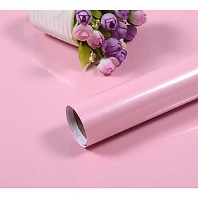 Cuộn 5m dài x 0.6m rộng decal giấy dán bóng dán kệ bếp dán tường MÀU HỒNG