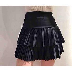 Chân váy nữ xếp ly 2 tầng,  thiêt kế đẹp sang trọng, kiểu váy ngắn quyến rũ