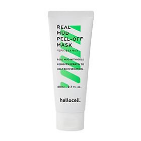Mặt Nạ Bùn Khoáng Tinh Chất Vàng 24K Hellocell Real Mud Peel-off Mask 80ML