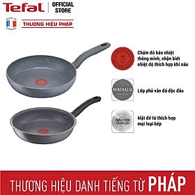 Bộ chảo Tefal G134S295 Cook Healthy Chảo 24cm và Chảo xào 28cm - hàng chính hãng