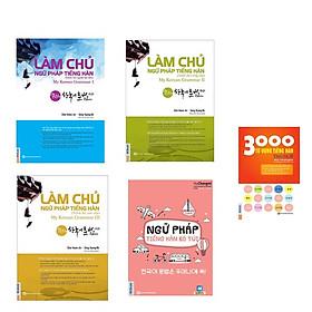 Combo Làm Chủ Ngữ Pháp Tiếng Hàn ( sơ cấp + trung cấp + cao cấp)  và Ngữ pháp tiếng Hàn bỏ túi ( tặng 3000 từ vựng tiếng Hàn theo chủ đề )