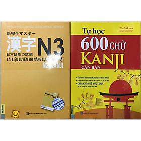 combo 2 cuốn N3 Kanji và tự học 600 chữ Kanji căn bản tăng bookmark