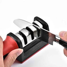 Dụng cụ mài dao kéo thép không gỉ cao cấp + Tặng 2 túi khử mùi nhà bếp Nhật Pháp