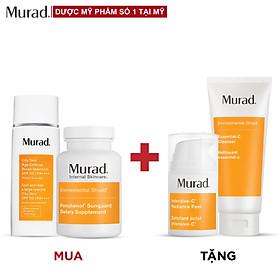 Bộ sản phẩm Murad chống nắng bên trong - Giảm nám bên ngoài Tặng Kem tái tạo da Intensive C Radiance Peel + Essential-C Cleanser