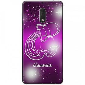 Ốp lưng  dành cho Nokia 6 mẫu Cung hoàng đạo Aquarius (hồng)