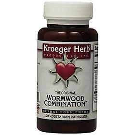 Kroeger Herb Wormwood Combination Vegetarian Capsules, 100 Count