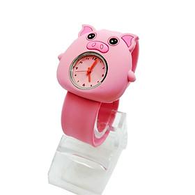 Đồng hồ Silicon Lợn hồng đáng yêu cho bé