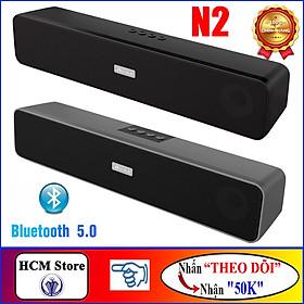 Loa Bluetooth 5.0 Super BASS Bonks N2 Kết Hợp 4 Loa in 1 Bass Treble Siêu Ấm, Hỗ trợ Thẻ Nhớ, Cổng USB, Công Suất Lớn - Tặng Dây Jack 3.5mm, Hàng Chính Hãng