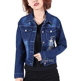 Áo Khoác Jean Nữ Cổ Bẻ Hưng Phát 9187 (Free Size) - Xanh