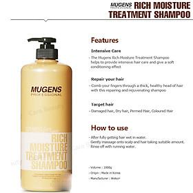 Bộ dầu gội - dầu xả dưỡng chất Mugens Rich Moisture Treatmen 2x1000ml + Móc khóa-6