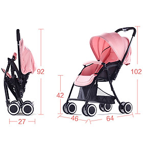 Xe đẩy cho bé, xe đẩy du lịch cho bé 2 chiều 3 tư thế