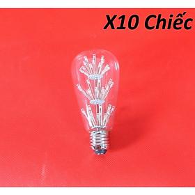 Bộ 10 bóng đèn led trang trí hình ST64, đèn trang trí độc đáo hàng chính hãng