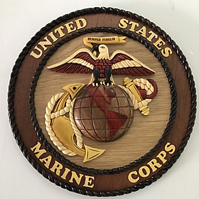 Tranh Gỗ Ghép Treo Tường- Huy hiệu United States Marine Corps