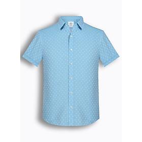 Áo sơ mi nam tay ngắn họa tiết The Shirts Studio Hàn Quốc TD42F2343BL size 95