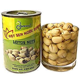 HẠT SEN NƯỚC ĐƯỜNG - LOTUS NUTS (425gr) - Antesco - Là thức uống có tác dụng giải độc gan, thanh lọc cơ thể, giảm bớt nóng trong, ngừa nhiệt miệng, giúp an thần dễ ngủ, ngủ sâu, tinh thần sản khoái, cơ thể đầy năng lượng