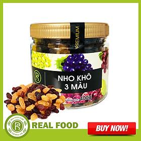 Hũ Nho Khô 3 Màu REAL FOOD STORE (400g)