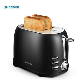 Máy nướng bánh mì Shardor TS515B-ELF Công suất 800W - Chất liệu Thép không gỉ - Hàng chính hãng