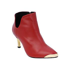 Giày Boot Nữ Cổ Thấp Chữ V Rosata RO37 - Đỏ