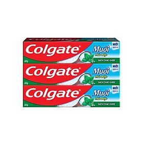 Bộ 3 Kem Đánh Răng Colgate Herbal Salt Muối Thảo Dược 225g/tuýp x 3