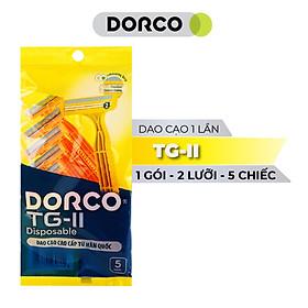 Dao Cạo Râu 2 Lưỡi Dorco TG 710YL-5P (05 Dao Cạo)