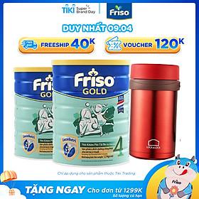 Combo 2 Lon Sữa Bột Friso Gold 4 Cho Trẻ Từ 2-4 Tuổi 1500g + Bình Giữ Nhiệt L&L (Màu Ngẫu Nhiên)