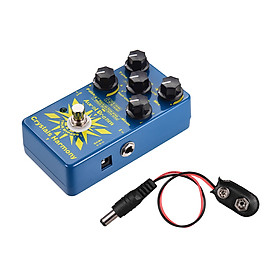 Aural Dream Crystals Harmony Digital Guitar Effect Pedal Creating Crystal Particles Effects True Bypass Single Effects - Dark Blue