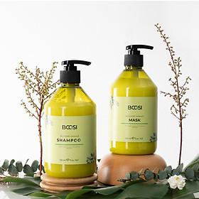 Cặp dầu  gội - mặt nạ tóc Bcosi phục hồi hư tổn chuyên sâu và bảo vệ da đầu 500ml