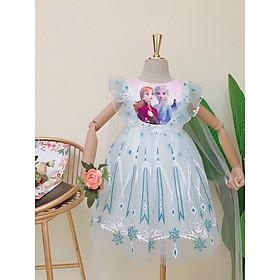 Đầm - Váy công chúa Elsa màu trắng, cho bé từ 8-35kg
