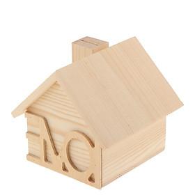 Kids Wooden House Money Bank Coin Money Saving Box Container Table Decor